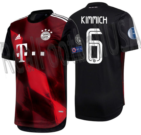 ADIDAS JOSHUA KIMMICH BAYERN MUNICH AUTHENTIC MATCH UEFA CHAMPIONS LEAGUE THIRD JERSEY 2020/21 1