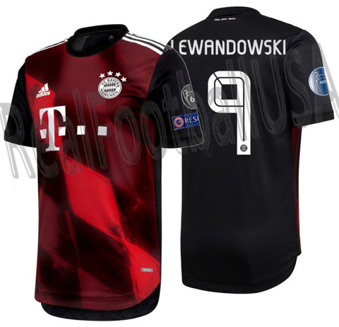 ADIDAS ROBERT LEWANDOWSKI BAYERN MUNICH AUTHENTIC MATCH UEFA CHAMPIONS LEAGUE THIRD JERSEY 2020/21 1