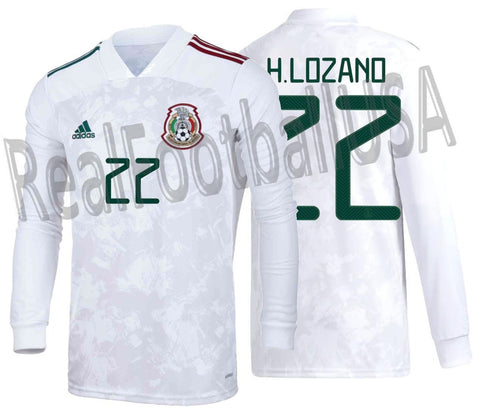 ADIDAS HIRVING LOZANO MEXICO LONG SLEEVE AWAY JERSEY 2020/21 1