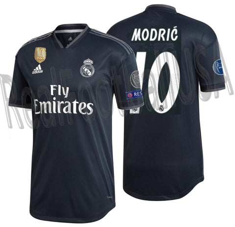 ADIDAS LUKA MODRIC REAL MADRID AUTHENTIC MATCH UEFA CHAMPIONS LEAGUE AWAY JERSEY 2018/19 1