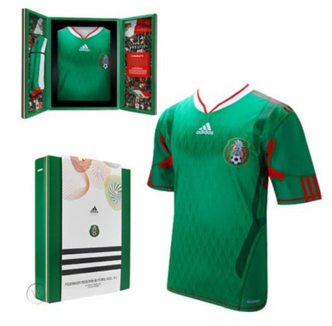ADIDAS MEXICO AUTHENTIC TECHFIT HOME JERSEY FIFA WORLD CUP 2010