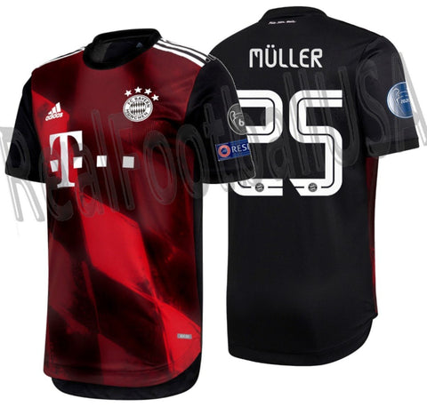 ADIDAS THOMAS MULLER BAYERN MUNICH AUTHENTIC MATCH UEFA CHAMPIONS LEAGUE THIRD JERSEY 2020/21 1