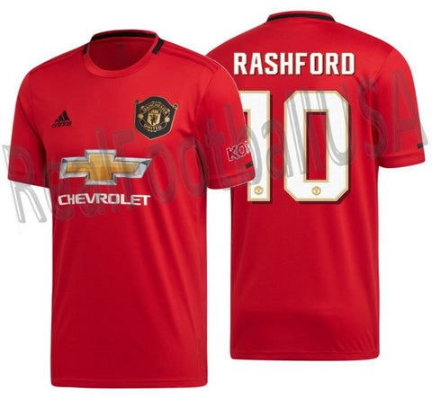 ADIDAS MARCUS RASHFORD MANCHESTER UNITED CUP HOME JERSEY 2019/20 1
