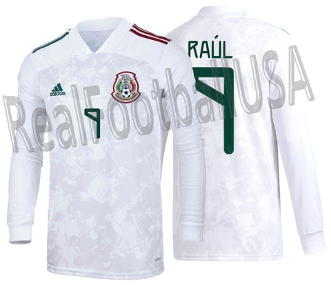 ADIDAS RAUL JIMENEZ MEXICO LONG SLEEVE AWAY JERSEY 2020/21 1
