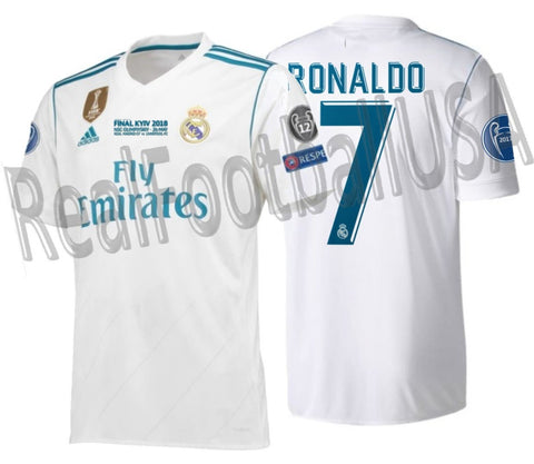 ADIDAS CRISTIANO RONALDO REAL MADRID UEFA CHAMPIONS LEAGUE FINAL 2018 JERSEY 1