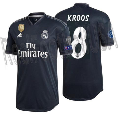 ADIDAS TONY KROOS REAL MADRID AUTHENTIC MATCH UEFA CHAMPIONS LEAGUE AWAY JERSEY 2018/19 1