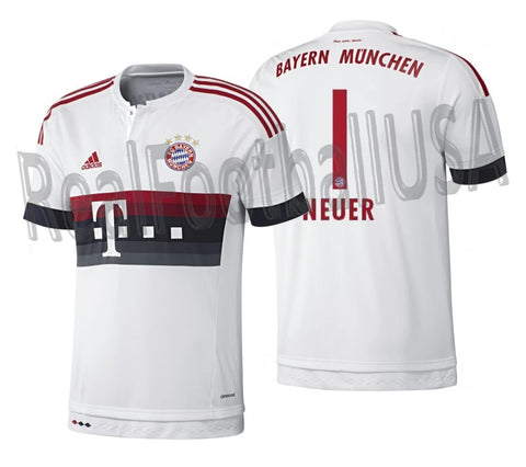 ADIDAS MANUEL NEUER BAYERN MUNICH YOUTH AWAY JERSEY 2015/16 1