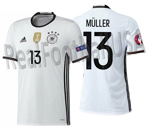 ADIDAS THOMAS MULLER GERMANY AUTHENTIC HOME ADIZERO JERSEY EURO 2016 PATCHES 1