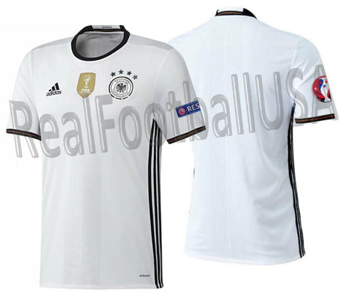 ADIDAS GERMANY AUTHENTIC HOME ADIZERO JERSEY EURO 2016 PATCHES 1