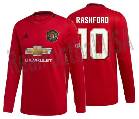 ADIDAS MARCUS RASHFORD MANCHESTER UNITED LONG SLEEVE CUP HOME JERSEY 2019/20 1