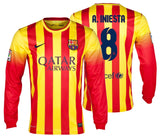 NIKE ANDRES INIESTA FC BARCELONA LONG SLEEVE AWAY JERSEY 2013/14