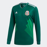ADIDAS CHICHARITO MEXICO LONG SLEEVE HOME JERSEY WORLD CUP 2018 MATCH DETAIL 1