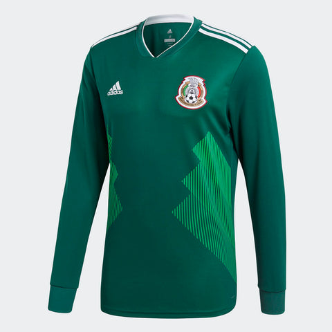 ADIDAS MEXICO LONG SLEEVE HOME JERSEY FIFA WORLD CUP 2018