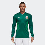 ADIDAS GIOVANI DOS SANTOS MEXICO LONG SLEEVE HOME JERSEY WORLD CUP 2018 PATCHES 3
