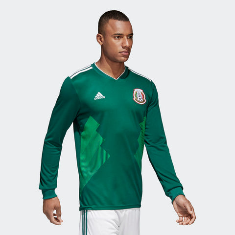 31a8cff2f30 ... ADIDAS CHICHARITO MEXICO LONG SLEEVE HOME JERSEY WORLD CUP 2018 MATCH  DETAIL ...