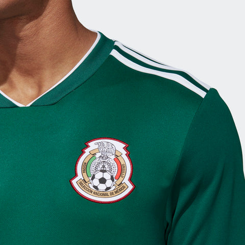 de160c63625 ... ADIDAS HIRVING LOZANO MEXICO LONG SLEEVE HOME JERSEY WORLD CUP 2018  MATCH DETAIL