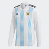 ADIDAS LIONEL MESSI ARGENTINA LONG SLEEVE HOME JERSEY FIFA WORLD CUP 2018.