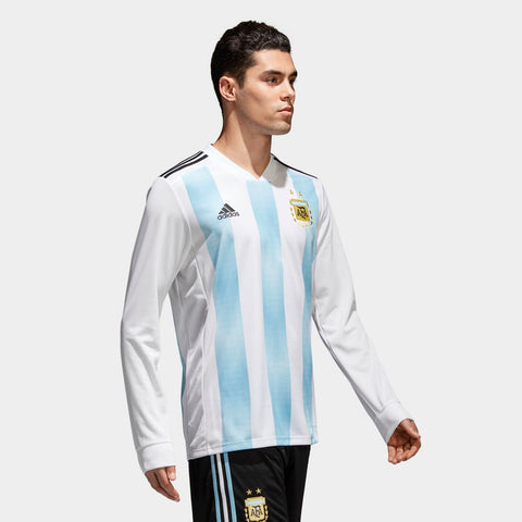 ADIDAS LIONEL MESSI ARGENTINA LONG SLEEVE HOME JERSEY FIFA WORLD CUP 2018. | eBay
