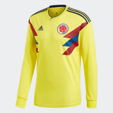 ADIDAS COLOMBIA LONG SLEEVE HOME JERSEY FIFA WORLD CUP 2018.