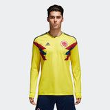 ADIDAS JAMES RODRIGUEZ COLOMBIA LONG SLEEVE HOME JERSEY FIFA WORLD CUP 2018.