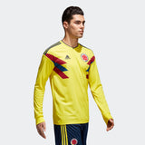 ADIDAS JAMES RODRIGUEZ COLOMBIA LONG SLEEVE HOME JERSEY FIFA WORLD CUP 2018 4