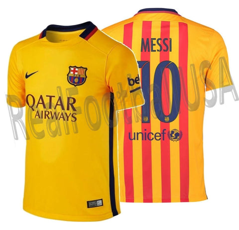 NIKE LIONEL MESSI FC BARCELONA AWAY YOUTH JERSEY 2015/16 1