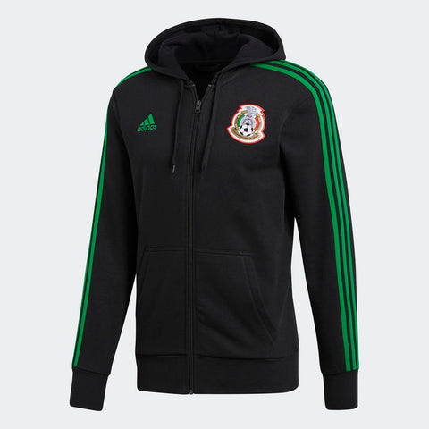 ADIDAS MEXICO 3-STRIPES FULL ZIP HOODIE FIFA WORLD CUP 2018 Black/green.