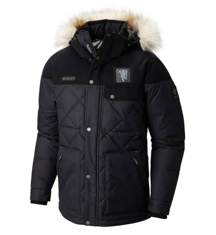 COLUMBIA MANCHESTER UNITED BARLOW PASS 550 TURBODOWN QUILTED JACKET 1