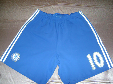 ADIDAS EDEN HAZARD CHELSEA FC AUTHENTIC PLAYERS ISSUE HOME SHORTS 2014/15.