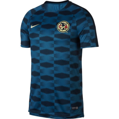 NIKE CLUB AMERICA DRY SQUAD PRE MATCH TOP 2017/18.