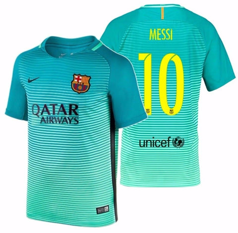 NIKE LIONEL MESSI FC BARCELONA THIRD YOUTH JERSEY 2016/17 QATAR.