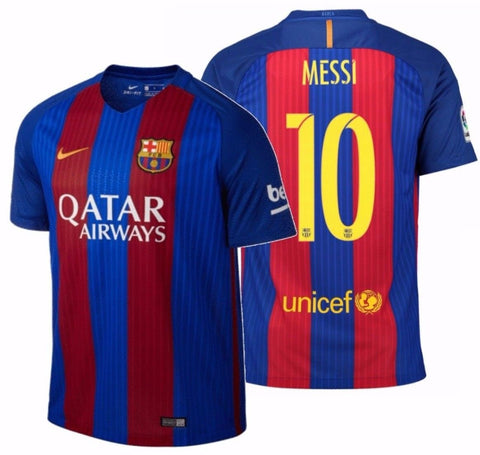 NIKE LIONEL MESSI FC BARCELONA HOME JERSEY 2016/17 QATAR.