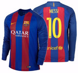 NIKE LIONEL MESSI FC BARCELONA LONG SLEEVE HOME JERSEY 2016/17 QATAR 1