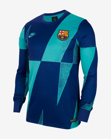 NIKE FC BARCELONA UEFA CHAMPIONS LEAGUE LONG SLEEVE PRE MATCH TOP 2019/20 0