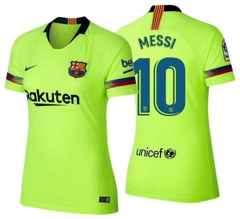 NIKE LIONEL MESSI FC BARCELONA WOMEN'S AWAY JERSEY 2018/19.