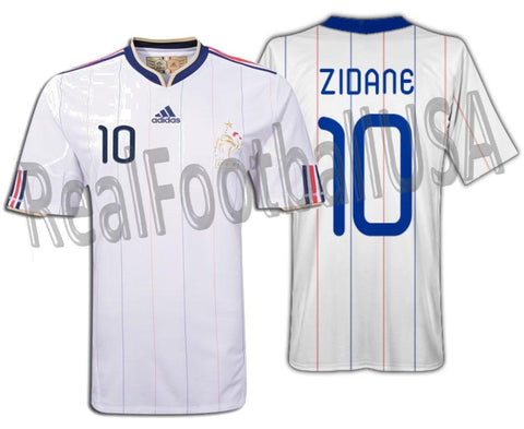 ADIDAS ZINEDINE ZIDANE FRANCE AWAY JERSEY FIFA WORLD CUP 2010.