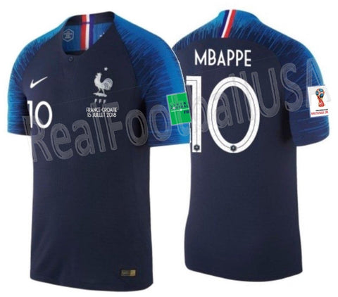 99a16873 NIKE KYLIAN MBAPPE FRANCE VAPOR MATCH HOME JERSEY FINAL MATCH WORLD ...