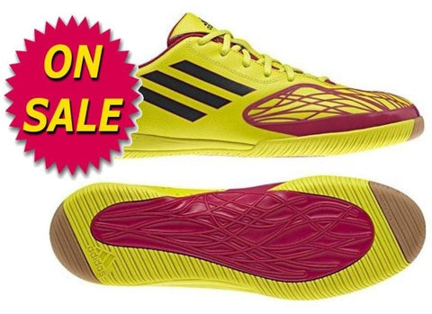 ADIDAS FREEFOOTBALL SPEEDTRICK INDOOR SOCCER FUTSAL SHOES Lab Lime/Bright Pink