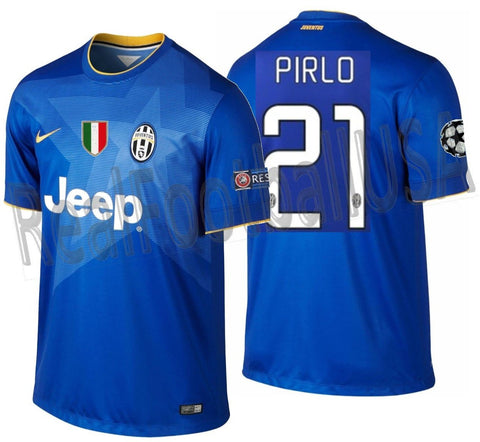 NIKE ANDREA PIRLO JUVENTUS UEFA CHAMPIONS LEAGUE AWAY JERSEY 2014/15.