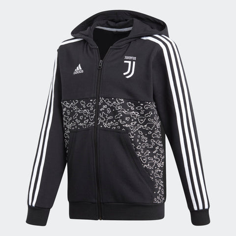 ADIDAS JUVENTUS YOUTH FULL ZIP HOODIE 2019 Black/White.