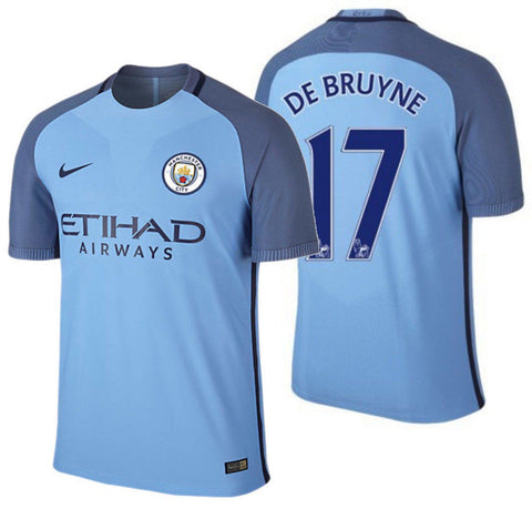 NIKE KEVIN DE BRUYNE MANCHESTER CITY AUTHENTIC VAPOR MATCH HOME JERSEY 2016/17.