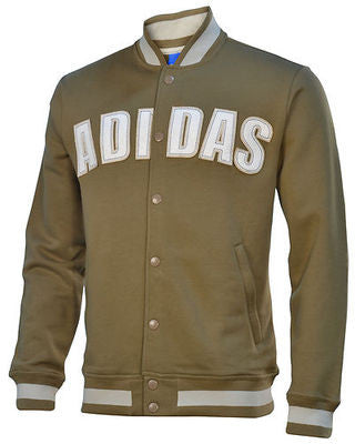 ADIDAS ORIGINALS FLEECE VARSITY SOCCER JACKET.