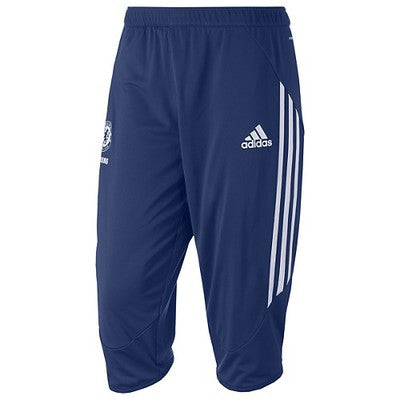 ADIDAS CHELSEA FC 3/4 TRAINING PANTS Dark Blue/White.