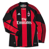 ADIDAS AC MILAN LONG SLEEVE HOME JERSEY 2010/11 X-LARGE.
