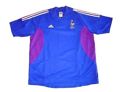 ADIDAS FRANCE HOME JERSEY FIFA WORLD CUP KOREA/JAPAN 2002 X-LARGE.
