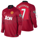 Nike Beckham Manchester United Long Sleeve Home Jersey 2013/14 547929-624