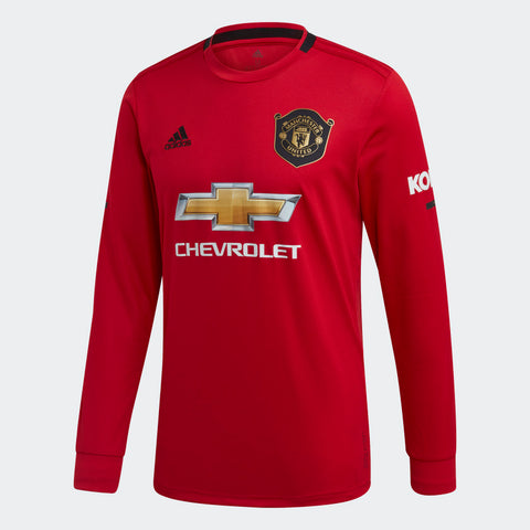 ADIDAS MANCHESTER UNITED LONG SLEEVE HOME JERSEY 2019/20.