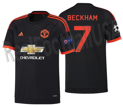 ADIDAS DAVID BECKHAM MANCHESTER UNITED UEFA CHAMPIONS LEAGUE THIRD JERSEY 2015/16 1