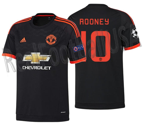 ADIDAS WAYNE ROONEY MANCHESTER UNITED UEFA CHAMPIONS LEAGUE THIRD JERSEY 2015/16 1