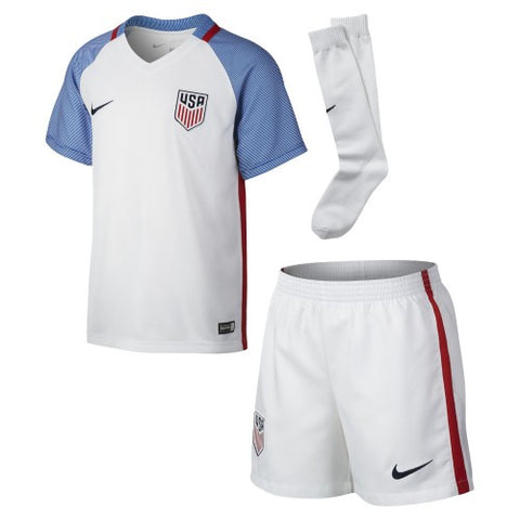 NIKE USA USWNT USMNT SOCCER LITTLE BOYS HOME KIT JERSEY SHORTS 2016/17